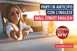 Ricevi il 30% di sconto* con Wall Street English