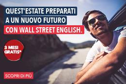 Wall Street English ti regala 3 mesi