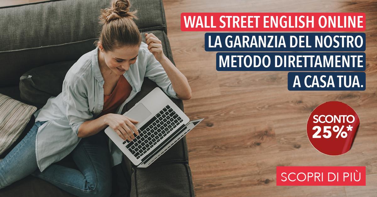 Wall Street English Online che propone un 25% DI SCONTO