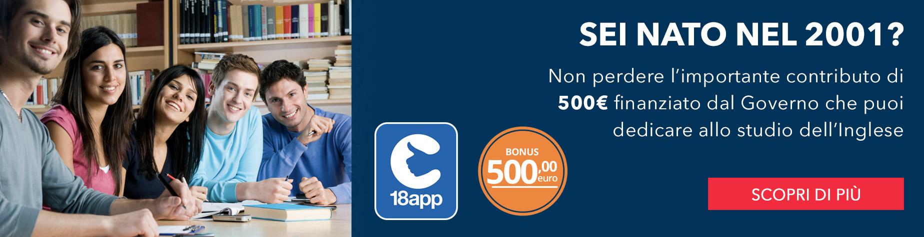 WSE Bonus 500 € 18 anni | corsi di inglese